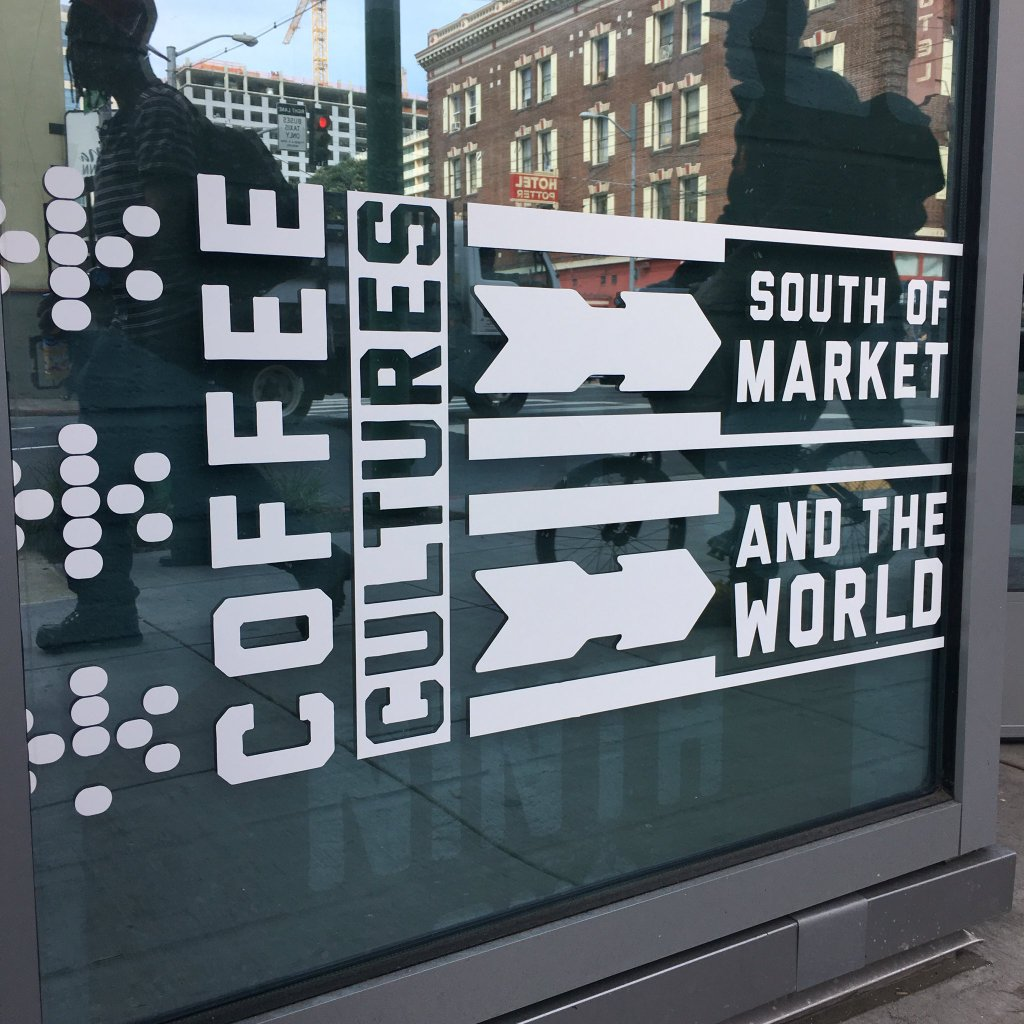 Installing window signage @CoffeeCultures1 new…
